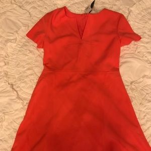 NWT Banana Republic Fit and Flare Dress Coral